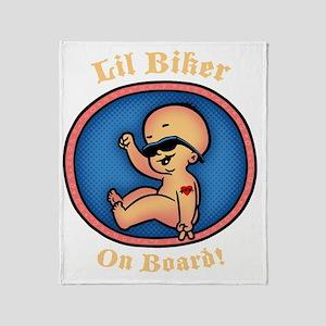 biker-womb-DKT Throw Blanket