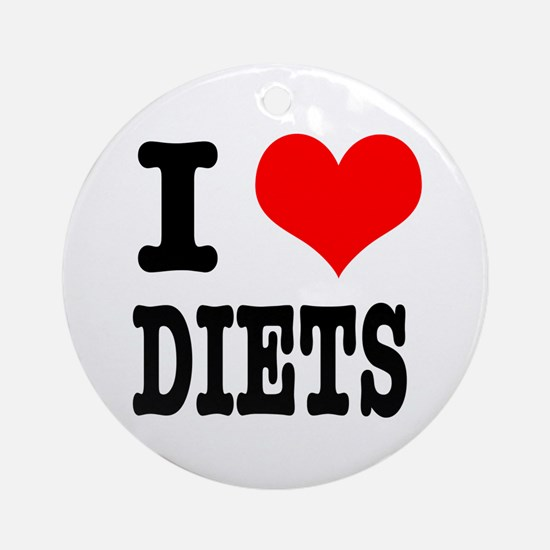 I Heart (Love) Diets Ornament (Round)