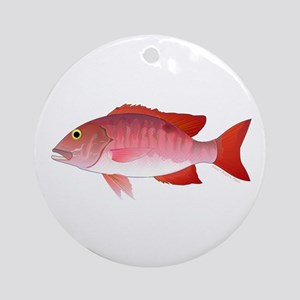 Red Snapper Ornament (Round)