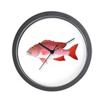 Red Snapper Wall Clock