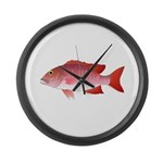 Red Snapper Large Wall Clock