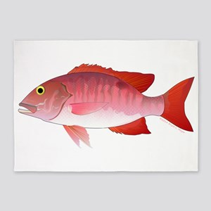Red Snapper 5'x7'Area Rug
