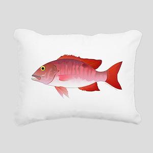 Red Snapper Rectangular Canvas Pillow