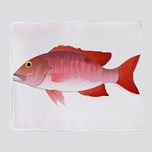 Red Snapper Throw Blanket