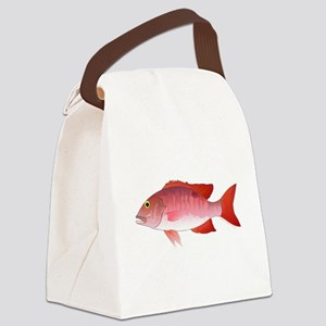 Red Snapper c Canvas Lunch Bag