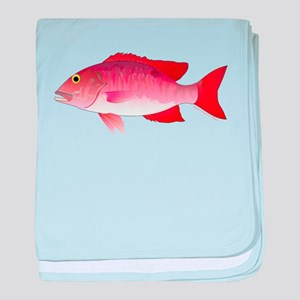 Red Snapper c baby blanket