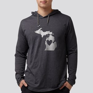 Heart Michigan Long Sleeve T-Shirt