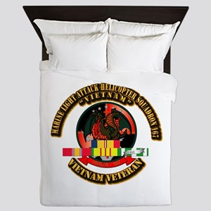 USMC - HMLA - 167 w VN SVC Ribbon Queen Duvet