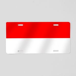 Flag of Monaco Aluminum License Plate