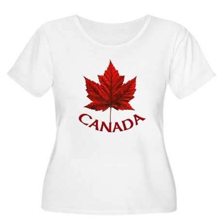 Canada Maple Women's Plus Size Scoop Neck T-Shirt