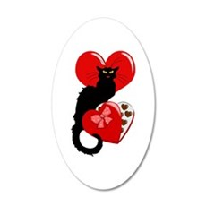 Le Chat Noir with Chocolate Candy Gift Wall Decal