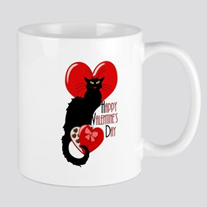 Happy Valentine's Day Le Chat Noir Mugs