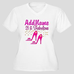 21 YR OLD DIVA Women's Plus Size V-Neck T-Shirt