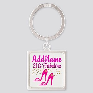 21 YR OLD DIVA Square Keychain