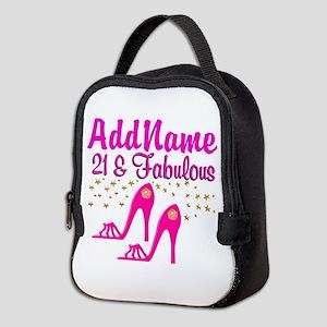 21 YR OLD DIVA Neoprene Lunch Bag
