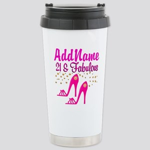 21 YR OLD DIVA Stainless Steel Travel Mug