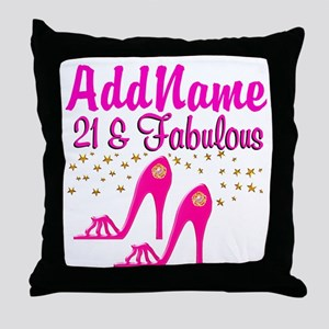 21 YR OLD DIVA Throw Pillow
