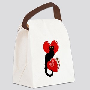 Le Chat Noir with Chocolate Candy Gift Canvas Lunc