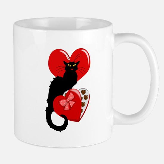Le Chat Noir with Chocolate Candy Gift Mugs