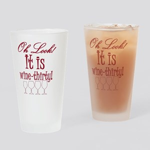 wine-thirty Drinking Glass