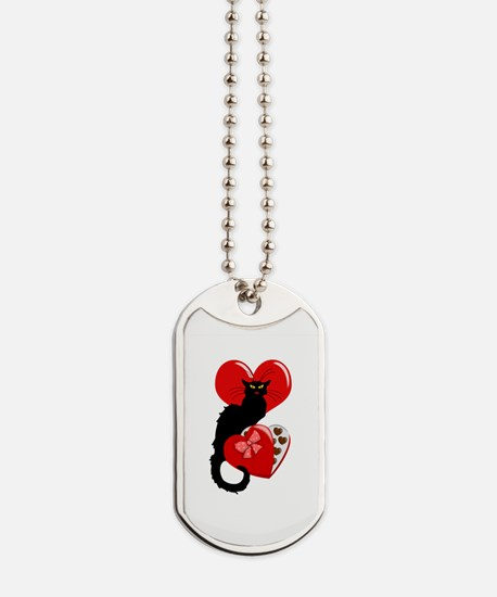 Le Chat Noir with Chocolate Candy Gift Dog Tags