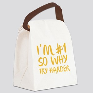 NumberOneHarder1C Canvas Lunch Bag