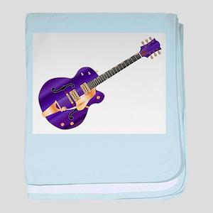Purple Guitar baby blanket