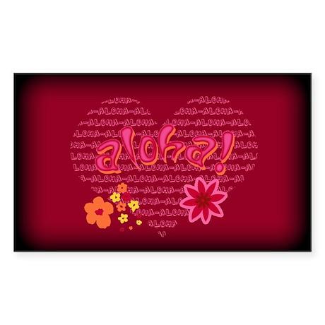 Aloha Rectangle Sticker
