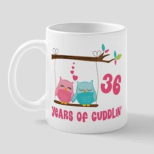 36th Anniversary Owl Couple Mug