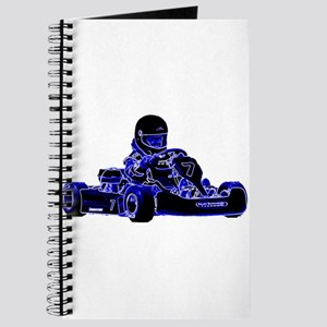 Kart Racing Blue and White Journal