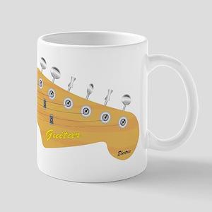 Isolated Guitar Headstock Mugs