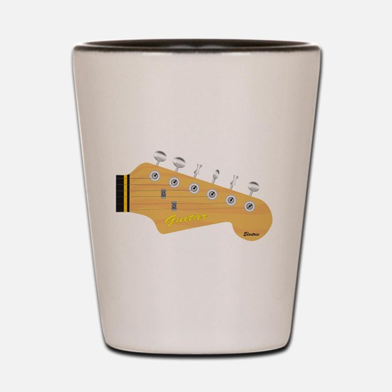 Isolated Guitar Headstock Shot Glass