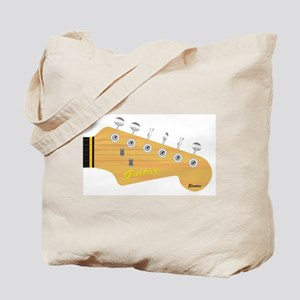 Isolated Guitar Headstock Tote Bag