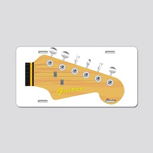 Isolated Guitar Headstock Aluminum License Plate