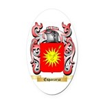 Espararza Oval Car Magnet