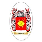 Espadas Sticker (Oval 50 pk)