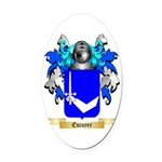 Escuyer Oval Car Magnet