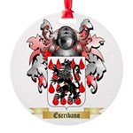 Escribano Round Ornament