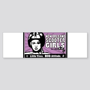 NOSG Helmet Girl Bumper Sticker