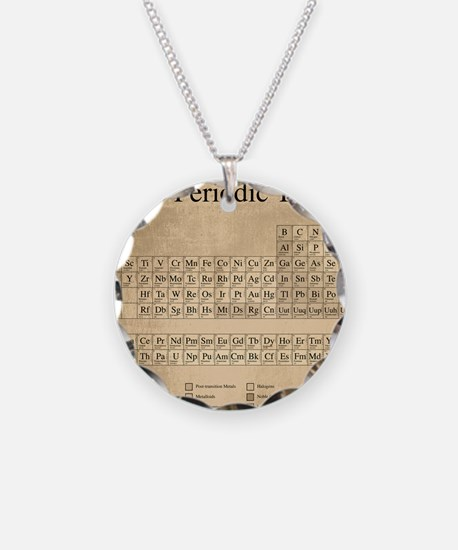 Periodic Table Necklace Circle Charm