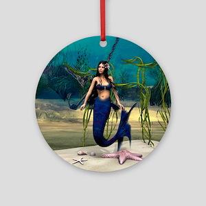 Mermaid Round Ornament