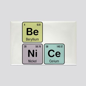 Be Nice - Be Ni Ce Rectangle Magnet