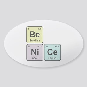 Be Nice - Be Ni Ce Sticker (Oval 10 pk)