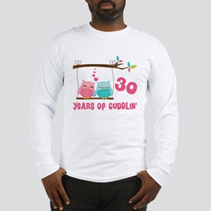 30th Anniversary Owl Couple Long Sleeve T-Shirt