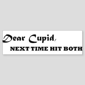 Dear Cupid Bumper Sticker