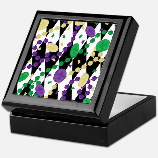 Mardis Gras Beads Keepsake Box