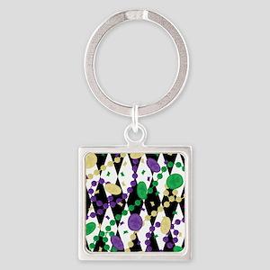 Mardis Gras Beads Keychains