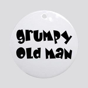Grumpy Old Man Ornament (Round)