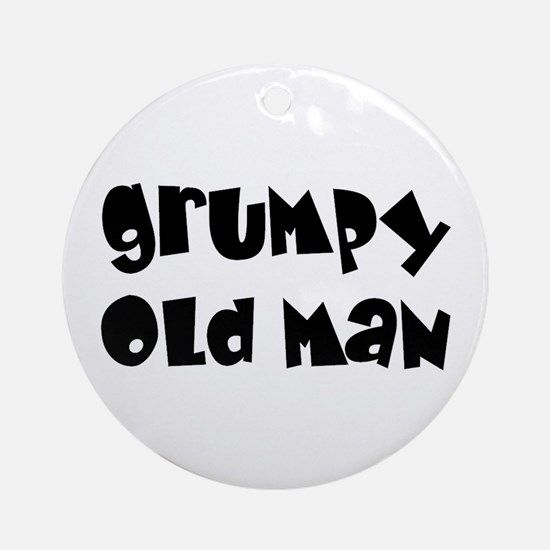 Grumpy Old Man Ornament (Round)