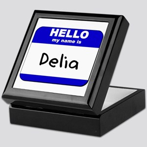 hello my name is delia Keepsake Box